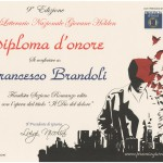 Diploma d'onore Giovane Holden Dio dolore